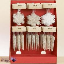 Décorations de sapin de Noël flocons de neige transparents