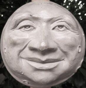 Handmade Weatherproof Moon Man Garden Decor Wall Sculpture by Claybraven