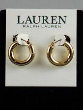 Ralph Lauren Goldtone LEEDS Small Tube Hoop Earrings 60511538 887 $28