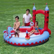 BESTWAY INFLATABLE DRAGON CASTLE SPRAY POOL SWIMMING SUMMER FUN CHILDREN FAMILY