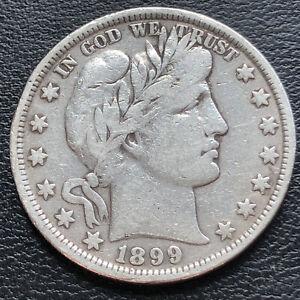 1899 Barber Half Dollar 50c Higher Grade VF  #29301