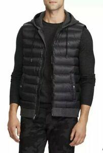 POLO RALPH LAUREN SIZE XL hooded hybrid vest gilet RRP £185 Black 100% Authentic