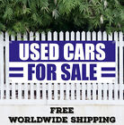 USED CARS FOR SALE Banner Sign Vinyl Advertising Flag Many Size FREE SHIPPING