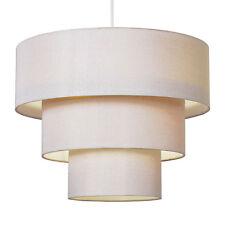 Modern Cream Fabric 3 Tier Ceiling Pendant Light Lamp Shade Lampshade Lights NEW