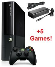 Microsoft Xbox 360 Slim E 250GB Bundle | Console, Controller, Cords, 5 Games!