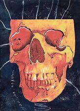 TESCHIO di stampa originale sovrapposti su Nero Pittura surreale WALL ART PICTURE sbeeart