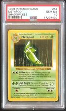 1999 Pokémon Base Set Metapod Shadowless PSA 10