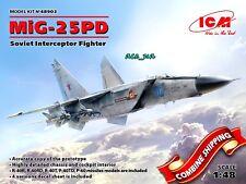 Aircraft Soviet Interceptor Fighter MiG-25 PD, Plastic Model Kit 1/48 ICM 48903