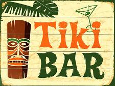 Tiki Bar Rétro en Métal Aluminium Signe vintage/pub/bar/cuisine/MAN CAVE