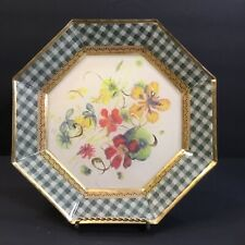 L Galeazzi Decopauge Plate French Flowers Signed Limited Edition 23/100