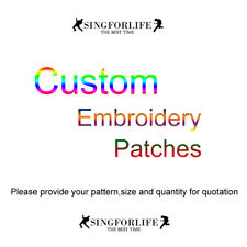Custom Logo Embroidered Patches Iron On Patch Sew On Badges for Clothes Hats Cap