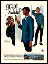 1965 Pendleton Wools Portland OR Shirts Cardigan Blazer V-Neck Pullover Print Ad
