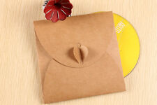 50 bustine busta custodia cuore regalo per CD e DVD In carta Kraft