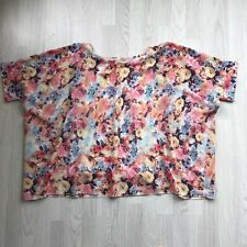 INNOCENCE Floral Print plus size slouch top UK 20 A7