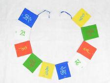 Buddhist Om Mani Padme Hum 5 Colour Prayer Flags Fair Trade Hippy Decor