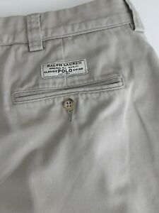 Men's Polo by Ralph Lauren G I Pant Beige Chino Trousers 38W 34L
