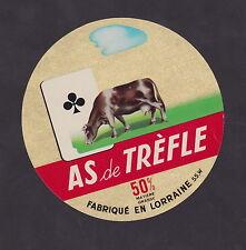 Ancienne  étiquette Fromage France  BN23018 As de Trèfle Vache Lorraine