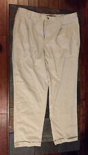 EUC Men's Chaps Ralph Lauren Khaki Pants 40W x 32L 100% Cotton Save $$$