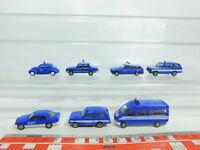 BN140-0,5# 7x Herpa H0/1:87 THW-Modell: VW Käfer+BMW+MB+Wartburg etc, s.g.
