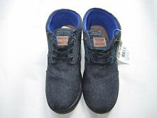 TOMS Boys Kids Youth Botas Blue Tartan Shoes size 3 New with Box