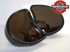 SPLIT VISION FAIRING MOUNT MIRROR SET BLACK FLT FLHT FLHTC 1996-2013