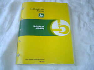 Deere 2150 2255 tractor repair shop service technical manual