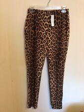 Daniel & Rebecca Trends Animal Print Skinny Pants Leggings Size M, Made In USA