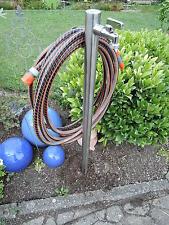 Wasserzapfstelle Edelstahl Wassersäule Wasserverteiler Schlauchhalter WS4210SH