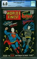 World's Finest Comics 167 CGC 6.0 -- 1967 -- Batman Superman Luthor #2004936010