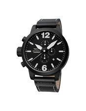 Runde Armbanduhren aus echtem Leder und Edelstahl mit 12-Stunden-Zifferblatt