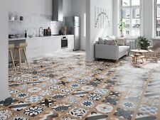 TILES JOBLOT 66: Colourful patchwork patterned matt porcelain tiles 60x60 20sqm