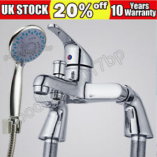 Bathroom Bath Shower Mixer Tap with Handset Chrome Modern Curved Single Lever 🔥