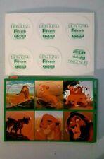 Disney Lion King Offical Pog game Milk Caps UNPUNCHED CARD SET