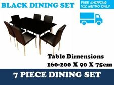 Leather Contemporary Dining Furniture Sets with 7 Pieces