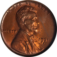 1931-D Lincoln Cent ANACS MS64RED Great Eye Appeal Nice Luster Strong Strike