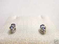 orecchini argento topazio nav Silver Swarowski stones