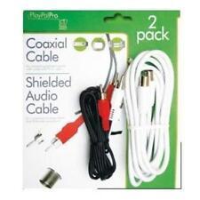 COASSIALE PIOMBO E AUDIO RCA DOPPIA phono lead VCR DVD ETC