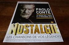PAOLO CONTE - Publicité de magazine / Advert !!! GRAND REX NOVEMBRE 2013 !!!