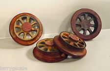 Custom Weathered Model Train Wheels 4 Pc Set G Scale Diorama Accessory Items