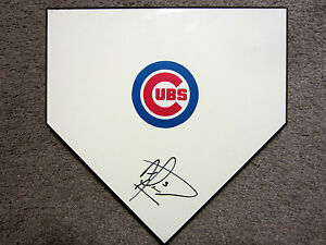 ALBERT ALMORA JR Chicago Cubs SIGNED Autographed Home Plate Base w/COA