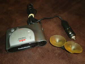 Radio Shack Radar Detector with SWS Compass 22-1685 With Car Adapter Mount