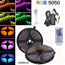 5M/10M/15M/20M 5050 SMD 60LEDs/m Flexible LED Strip Lights Roll Rope Tape RGB