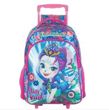 Enchantimals school backpack bag elementary children kid girl wheels trolley