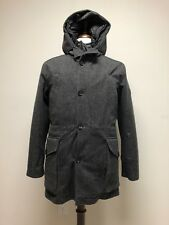 $3195 New Dolce & Gabbana  Gray Made In Italy Mens Wool Down Coat Slim 36 XS