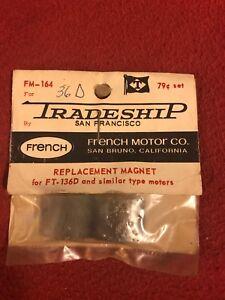 NOS Slot Car 1960s Tradeship Replacement Magnet for FT-136D & Similar #FM-164