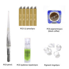 Permanent Makeup Microblading Eyebrow Tattoo Kit Microblades Ink Manual Pen Ring