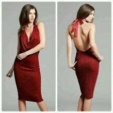 ♡♡ Guess by Marciano Red Aerin Plunge Glitter Top Dress ♡♡