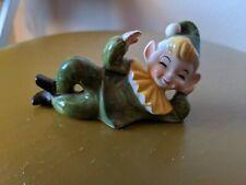 VINTAGE Green FAIRY PIXIE Clown ELF