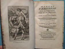 DE L'ETANG : MANUEL D'AGRICULTURE pour le laboureur, pour le propriétaire, 1764.