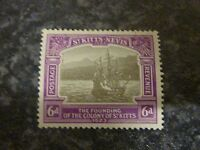ST.KITTS NEVIS POSTAGE REVENUE STAMP SG54 6d 1923 LIGHTLY MOUNTED MINT